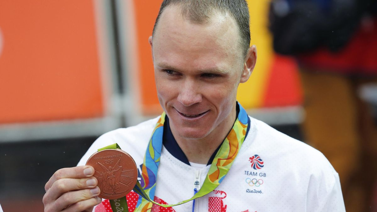 31st Rio 2016 Olympics / Men's Individual Time Trial Podium / Christopher FROOME (GBR) Bronze Medal