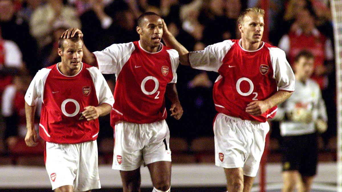 Fredrik Ljungberg, Thierry Henry und Dennis Bergkamp (v.l.)