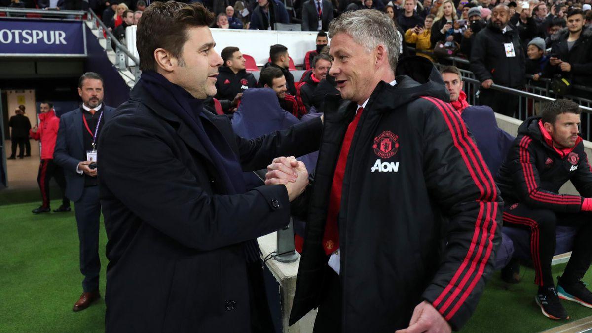 Mauricio Pochettino (links) - Ole Gunnar Solskjaer (rechts, Manchester United)