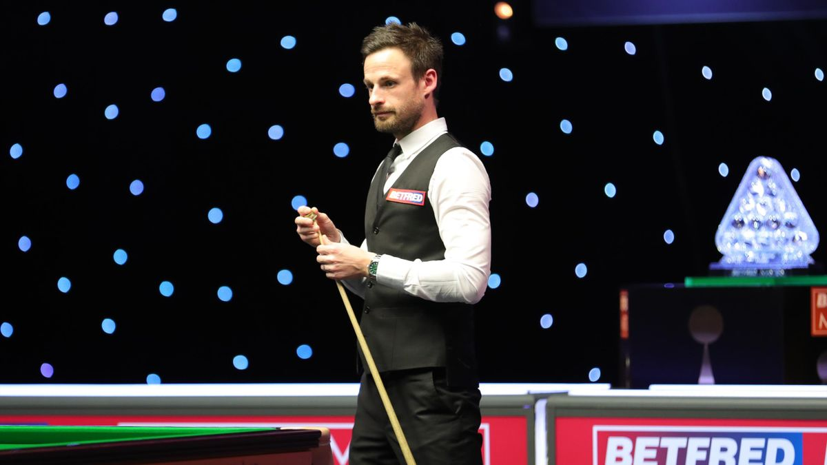 David Gilbert during his match with Kyren Wilson at the Masters
