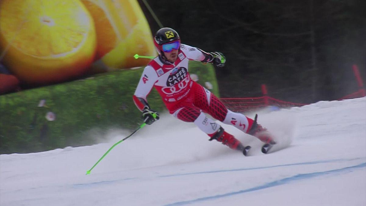 Alpin skiing Alta Badia - Marcel Hircher's secound run