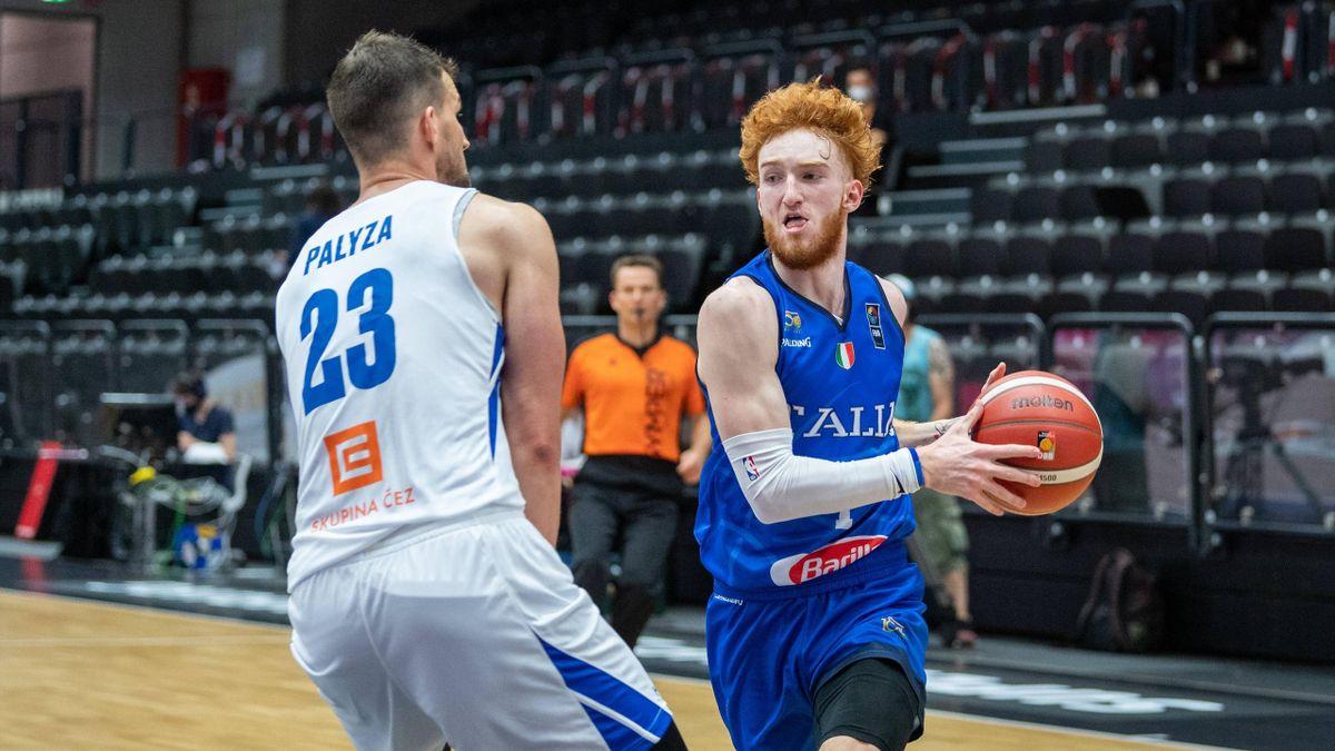 Nico Mannion, Italia-Repubblica Ceca, Torneo di Amburgo 2021