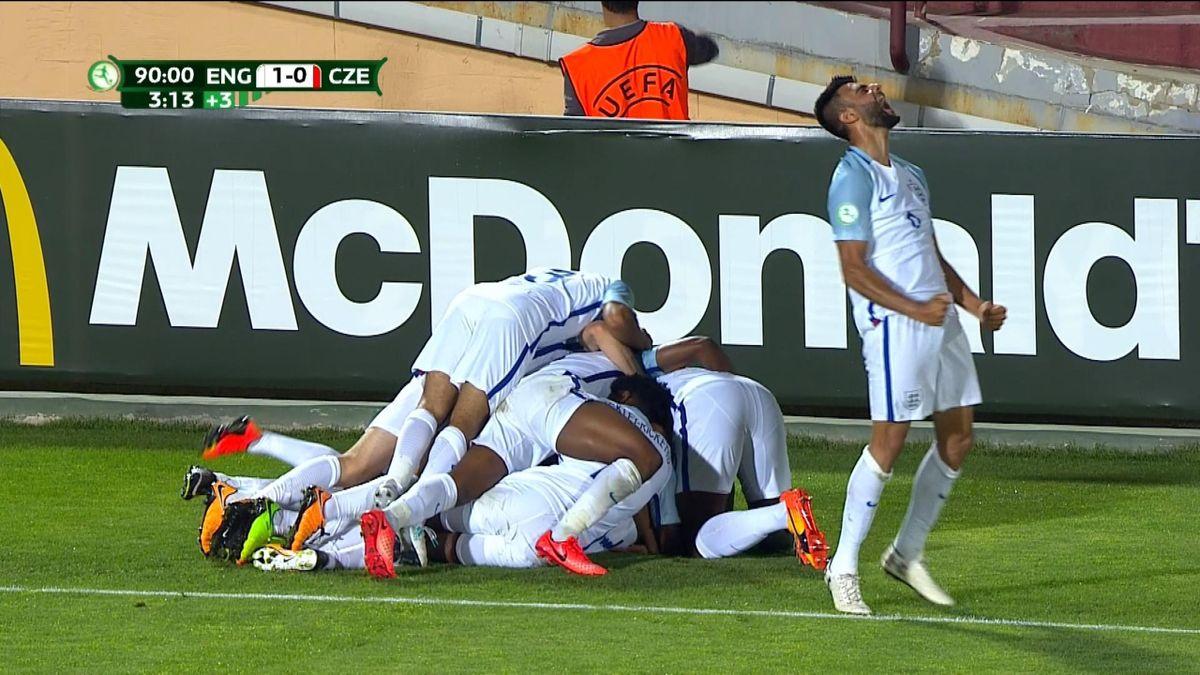 ECH U19 : England - Czech Republic : Goal 93'