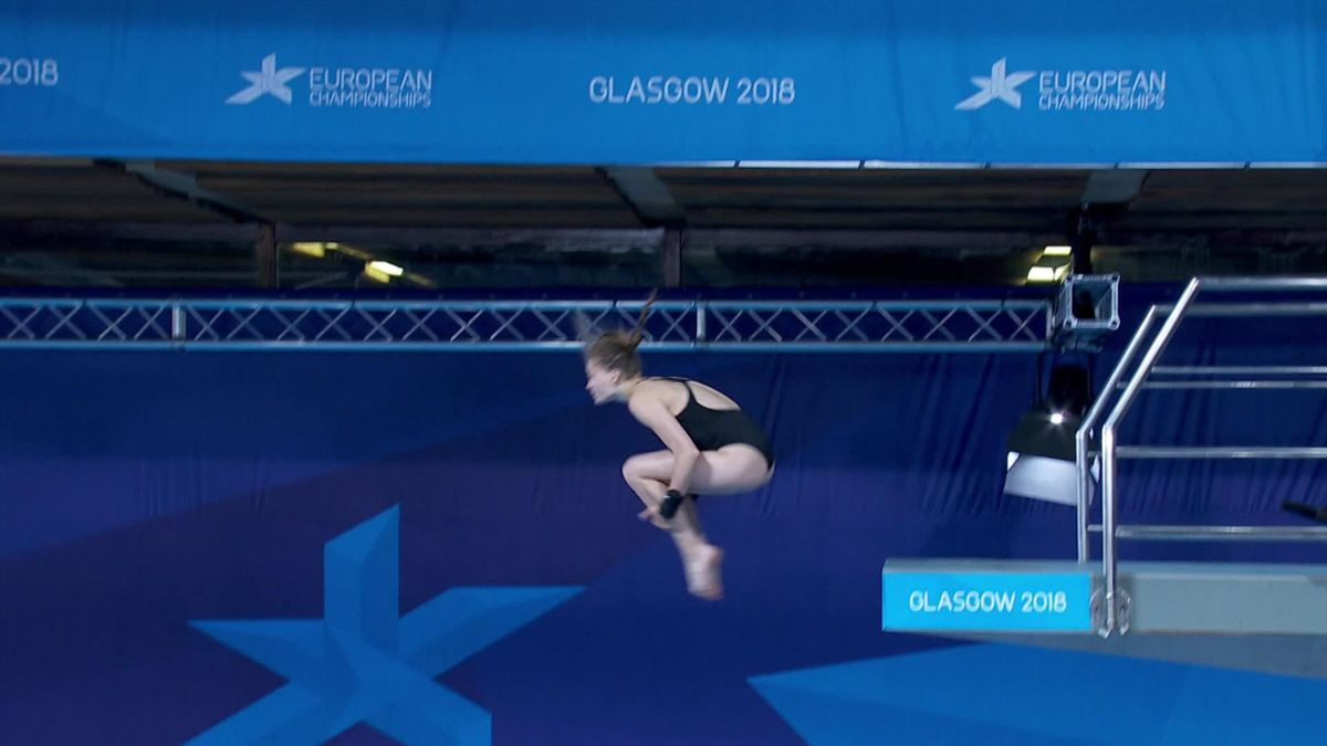 European Championship : Mixed Diving - Ukrain's dives
