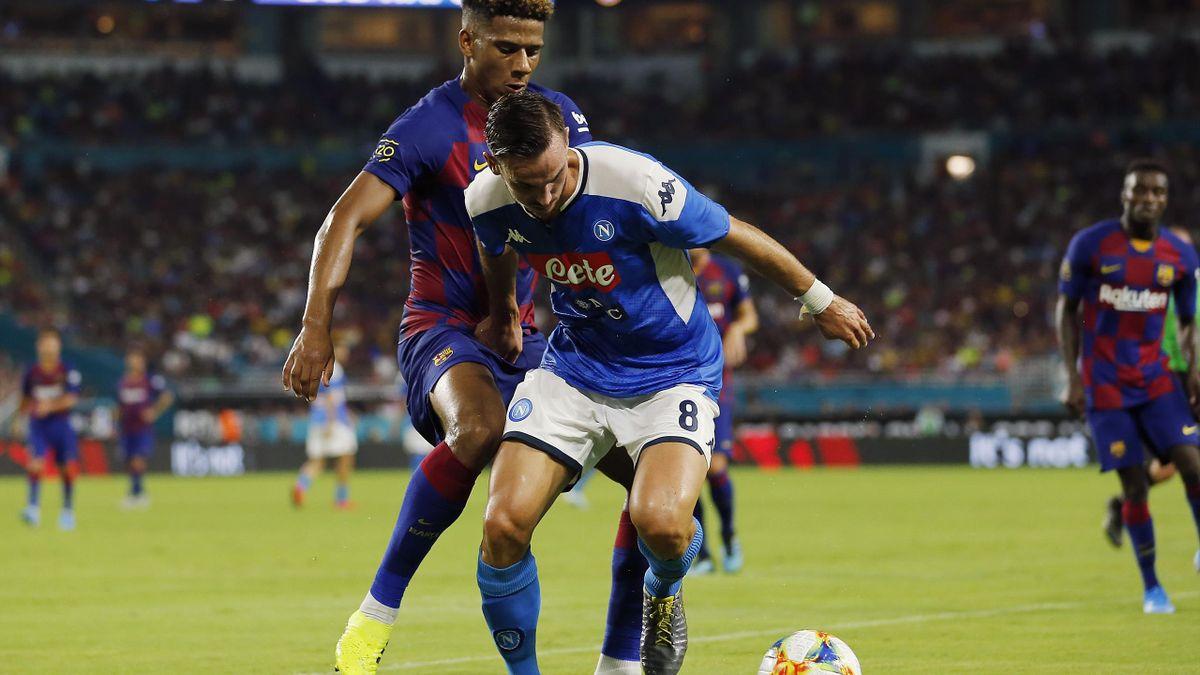 Fabian Ruiz, într-o dispută Barcelona - Napoli