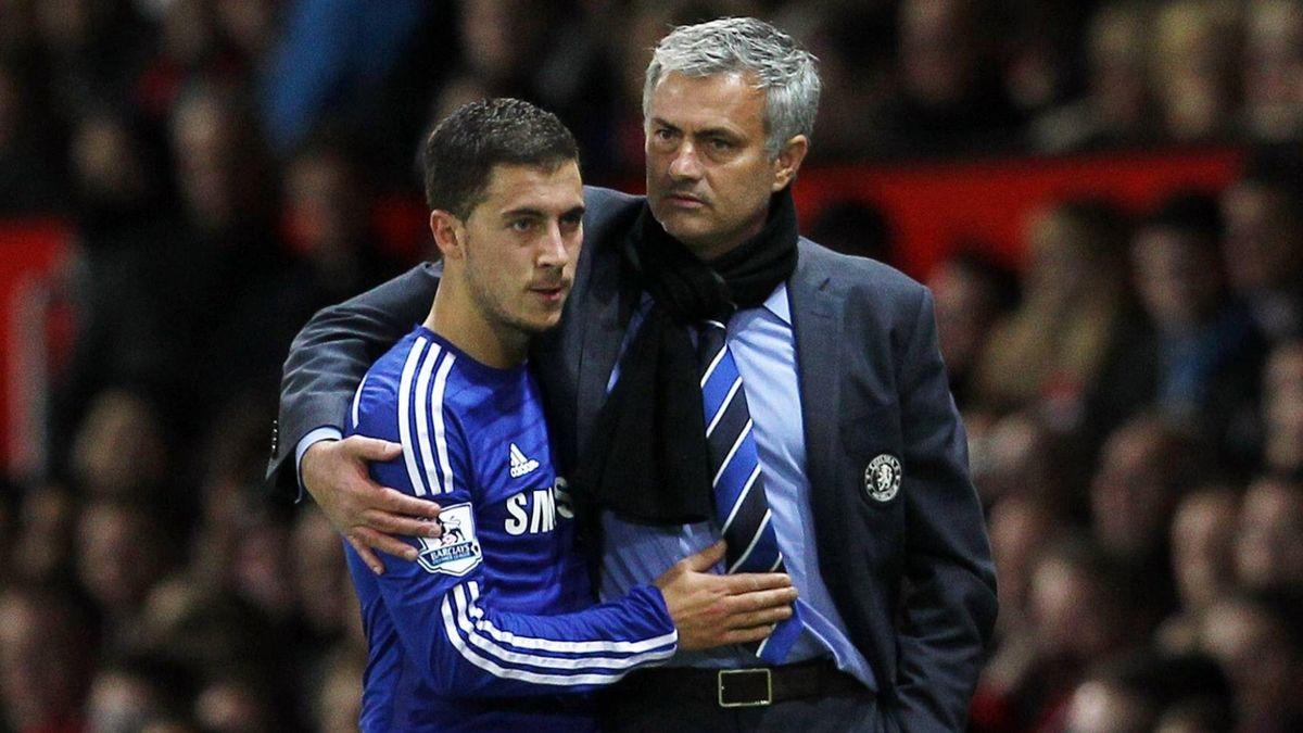 Jose Mourinho și Eden Hazard
