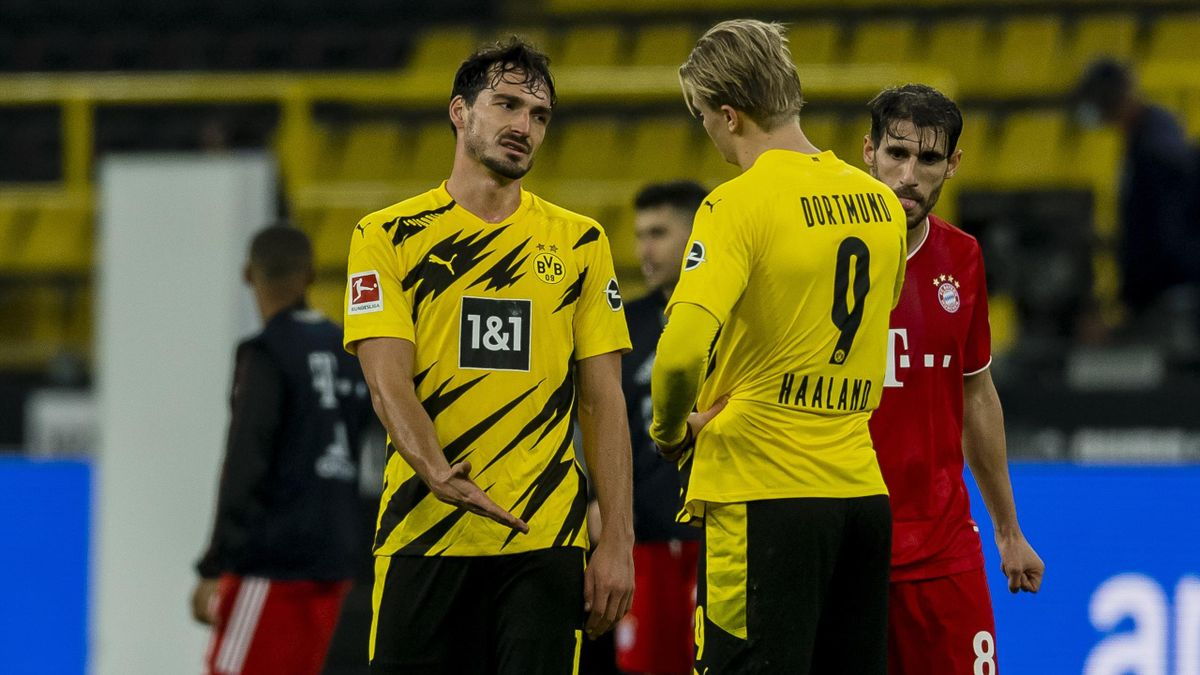 Mats Hummels (links) kritisierte den BVB-Spielstil von Ex-Trainer Lucien Favre