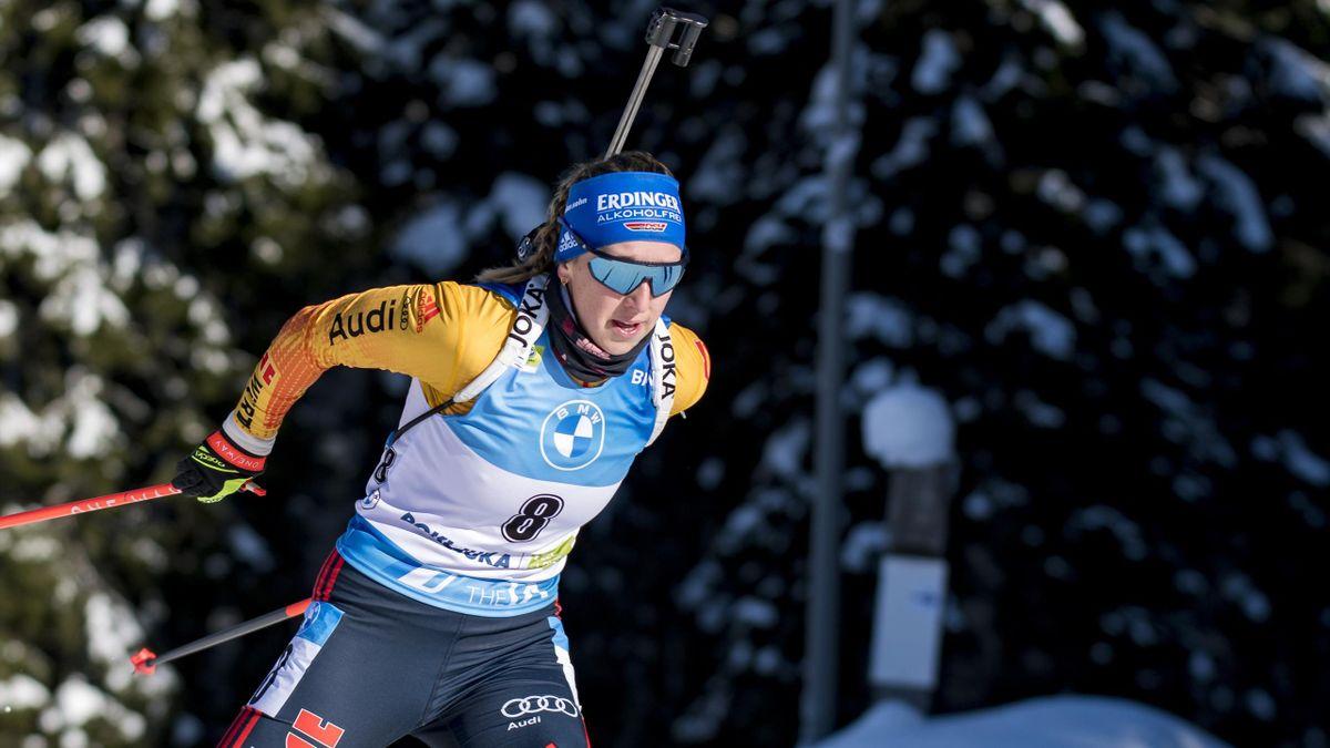 Franziska Preuß bei der Biathlon-WM auf der Pokljuka