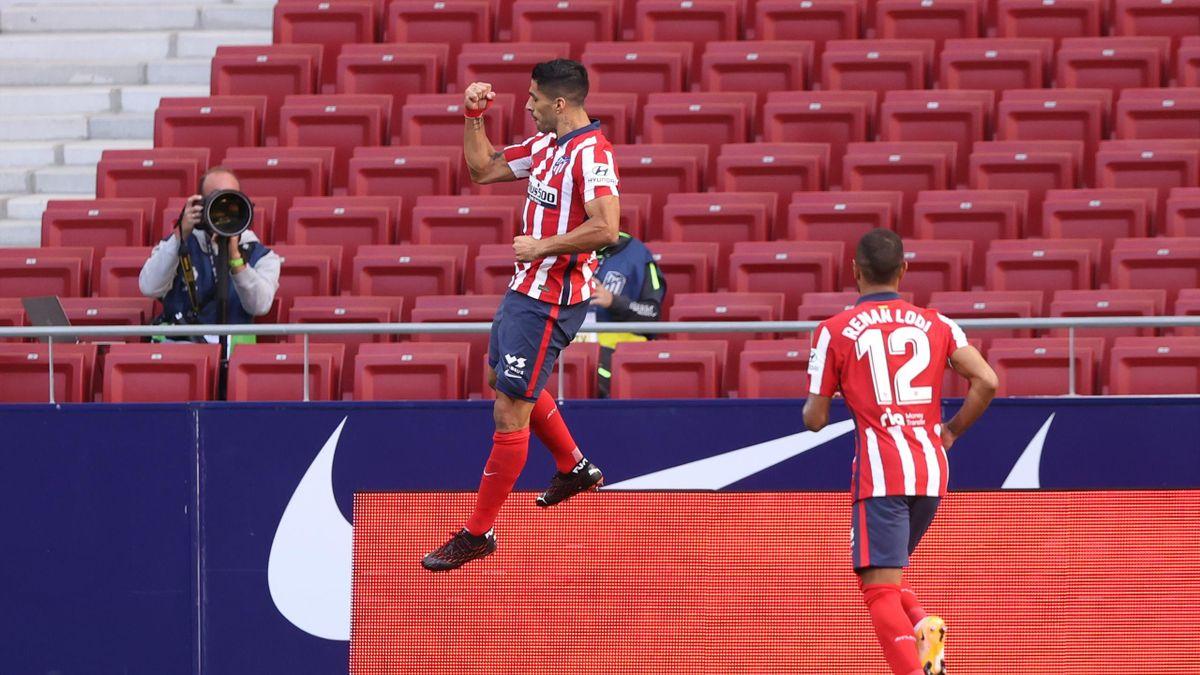 Luis Suarez, buteur pour son premier match avec l'Atlético face à Grenade, le 27 septembre 2020