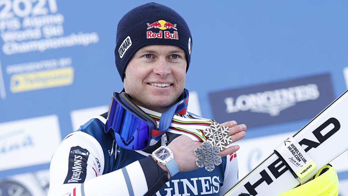 Alexis Pinturault, médaillé d'argent du combiné des Mondiaux 2021