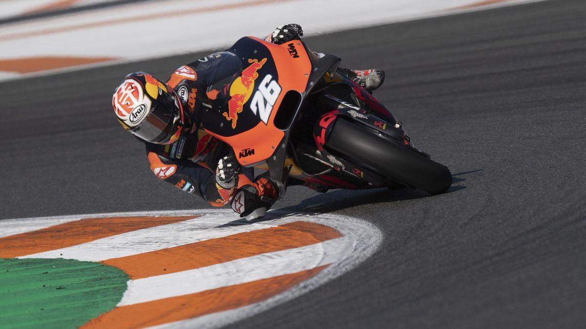 Dani Pedrosa (KTM) lors des tests de Valence, en novembre 2019