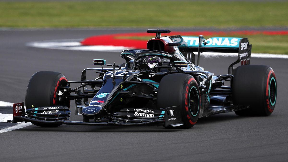Lewis Hamilton (Mercedes) im Qualifying in Silverstone