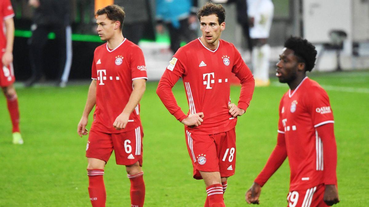 Bayern-Stars Kimmich, Goretzka, Davies (v.l.n.r.)