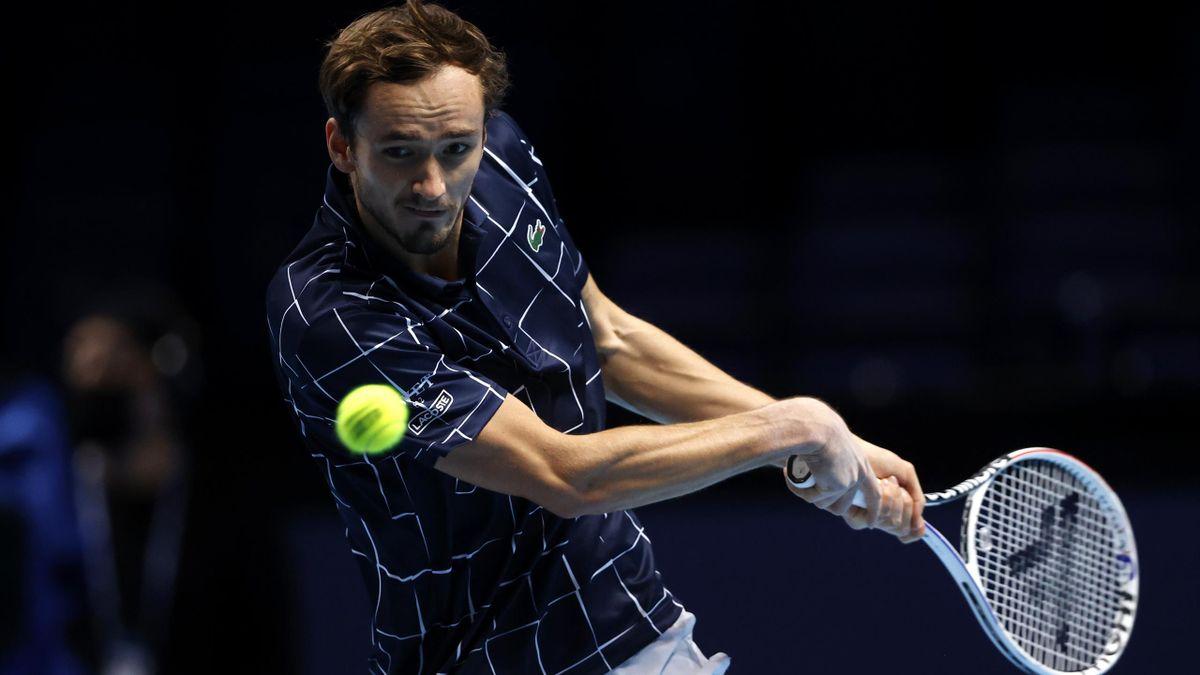 Daniil Medvedev schlug bei den ATP Finals am Freitag Diego Schwartzman