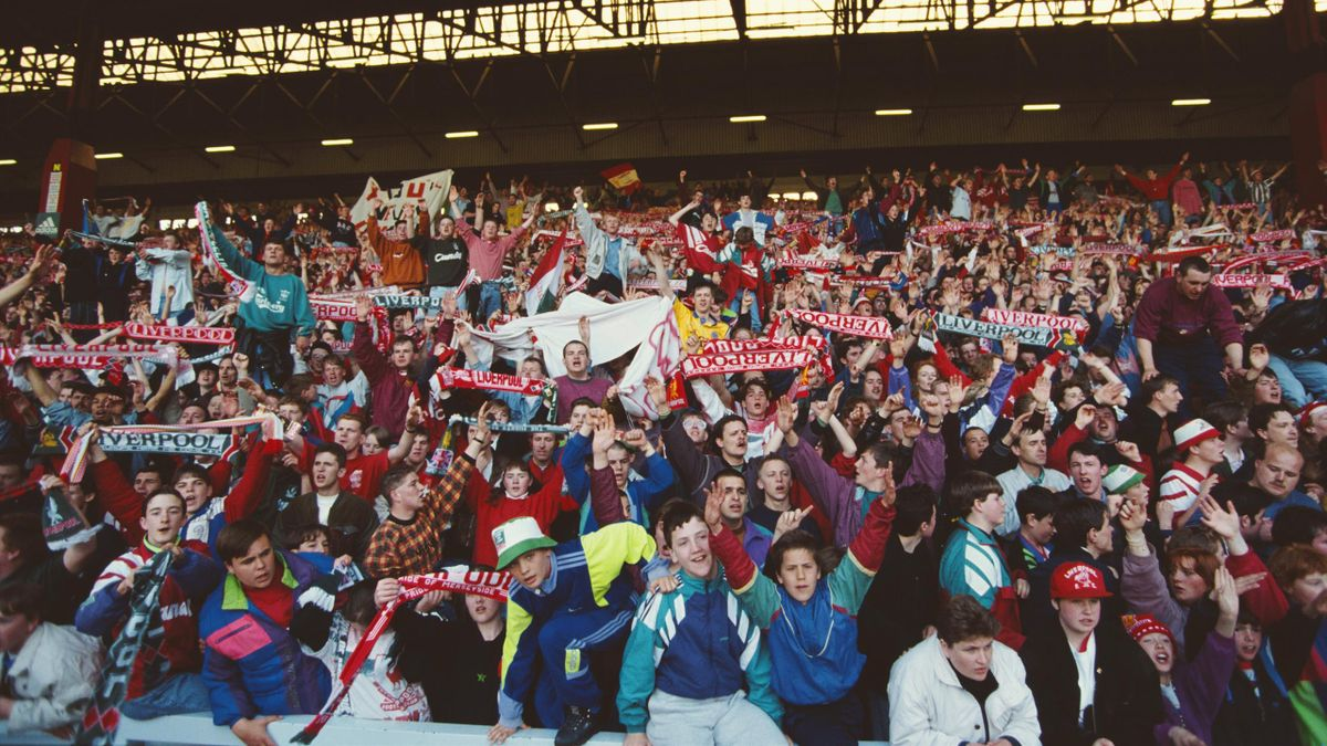 Liverpool crowd at Anfield, 1992