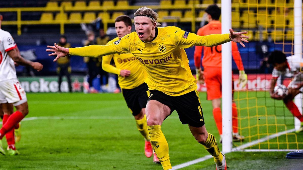 Erling Haaland (Borussia Dortmund) im Spiel gegen den FC Sevilla