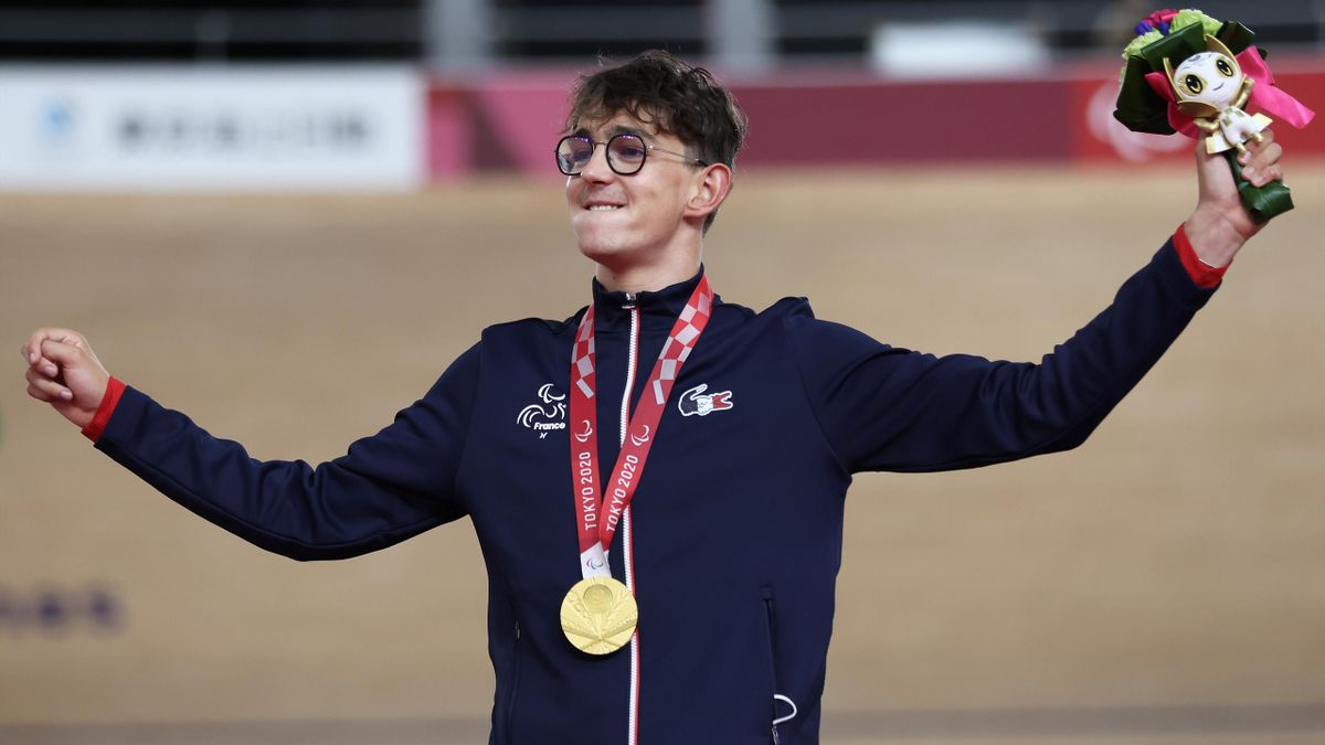 Alexandre Leaute, champion paralympique de la poursuite individuelle à Tokyo en 2021
