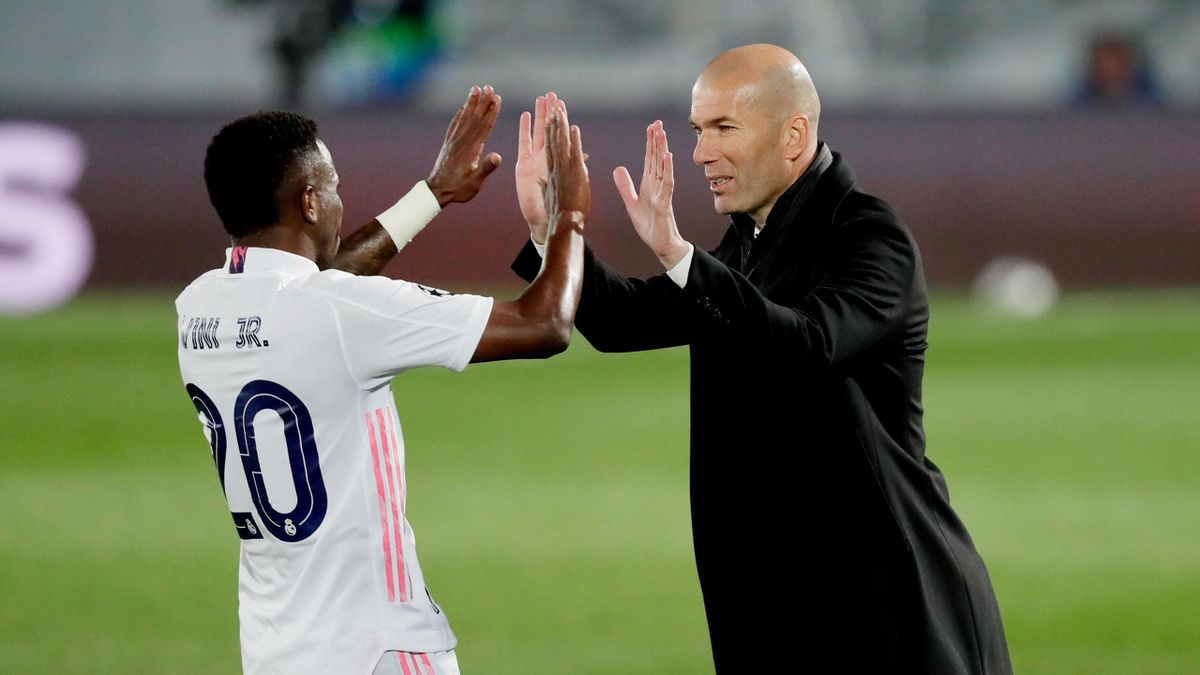 Vinicius Jr. and Zinedine Zidane, Real Madrid-Liverpool