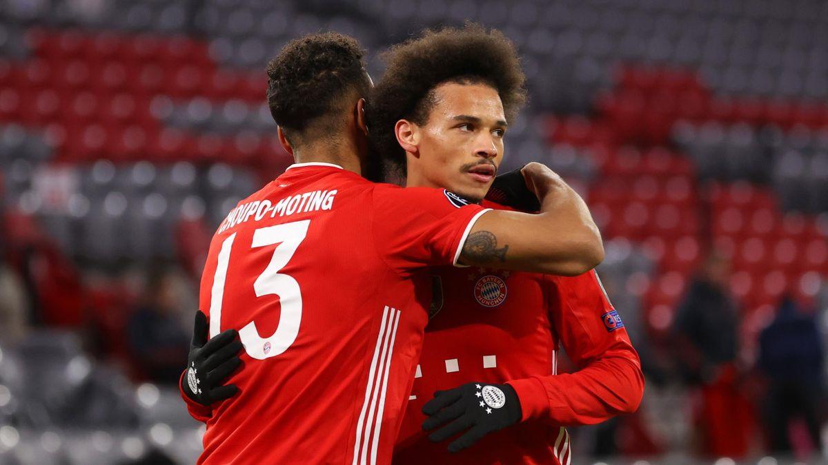 Eric Maxim Choupo-Moting und Leroy Sané - FC Bayern München