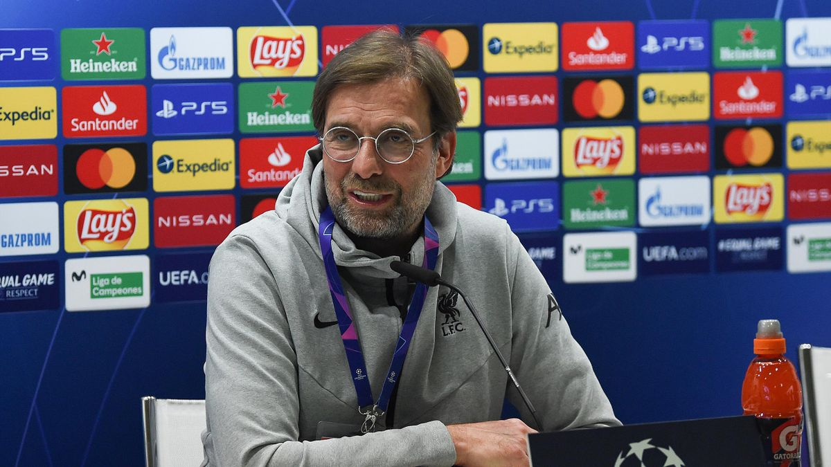 Jurgen Klopp manager of Liverpool during the press conference at Estadio Alfredo Di Stefano on April 05, 2021 in Madrid, Spain.
