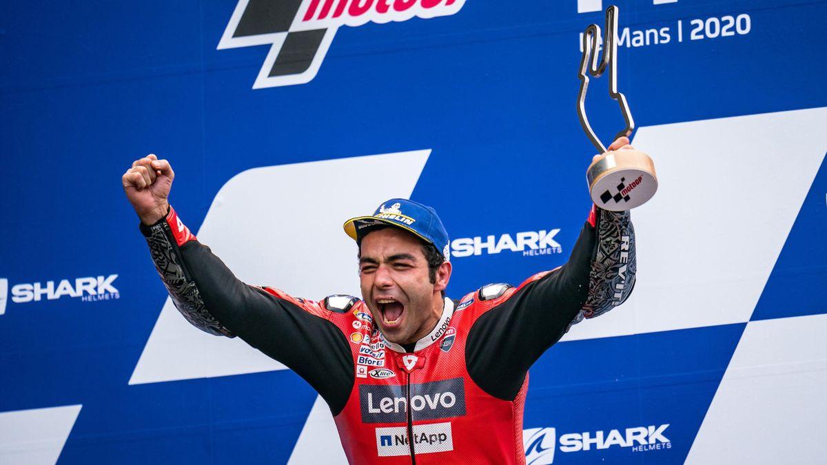 Danilo Petrucci esulta per il secondo successo in MotoGP, GP di Francia, Getty Images