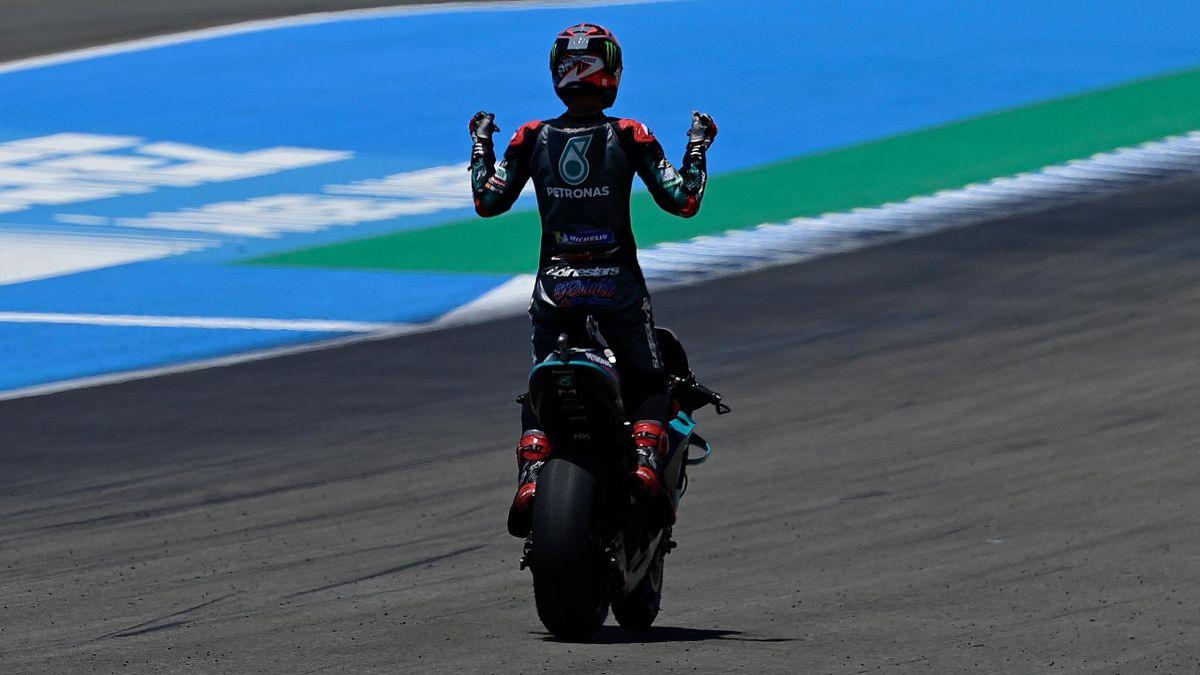 La joie de Fabio Quartararo après sa victoire sur le Grand Prix d'Andalousie