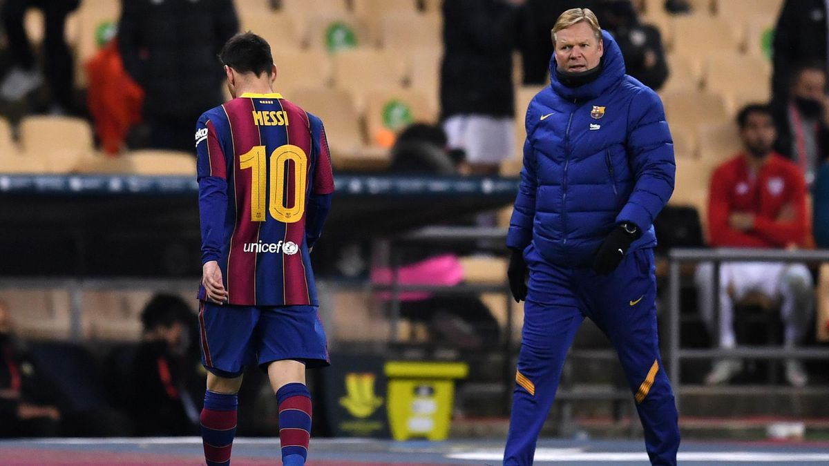 Lionel Messi und Ronald Koeman
