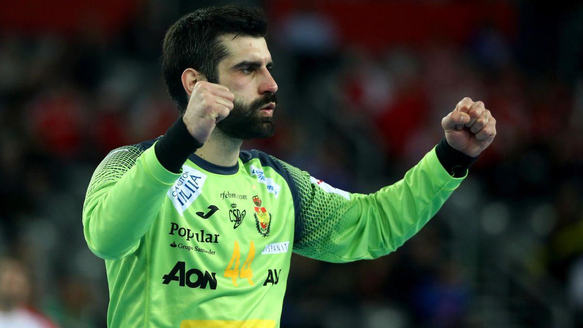 Rodrigo Corrales sous le maillot de l'Espagne