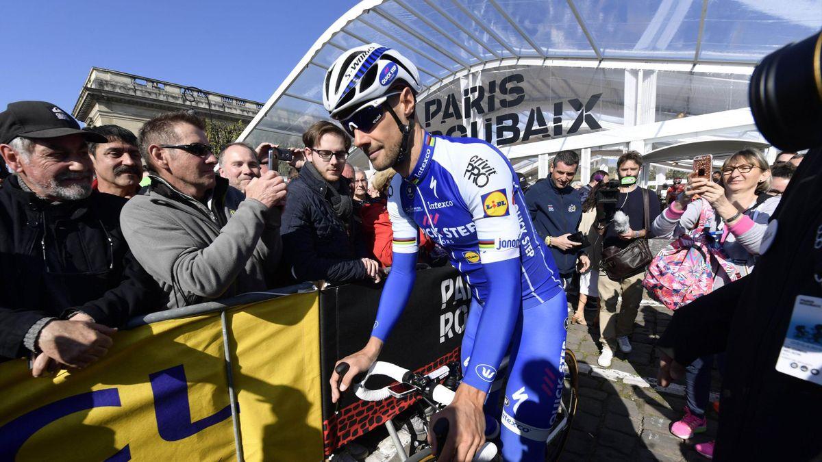 Tom Boonen au départ de son dernier Paris-Roubaix