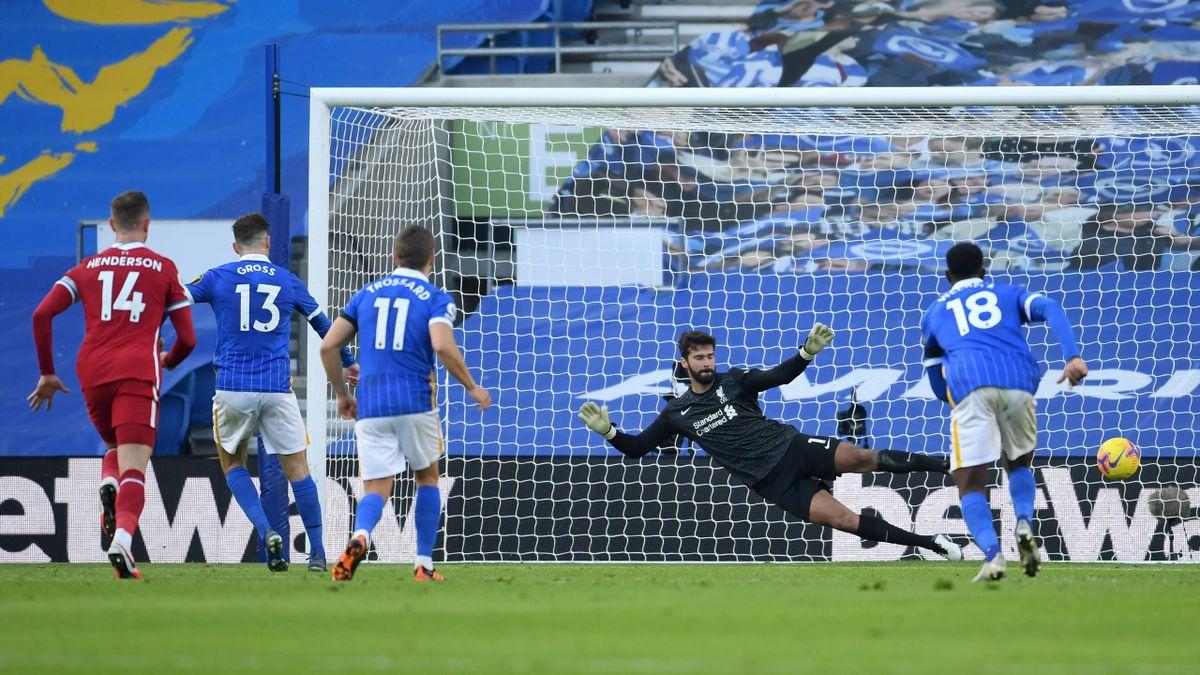 Pascal Gross a marcat golul egalizator pentru Brighton în meciul cu Liverpool