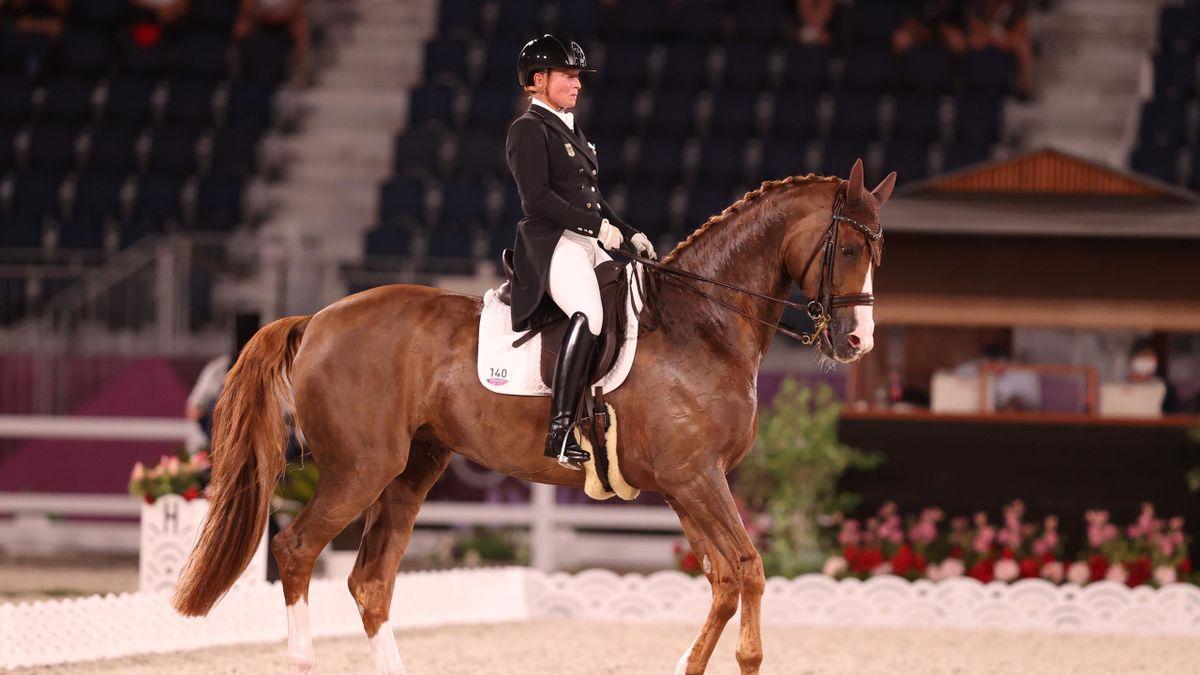 Isabell Werth auf Bella Rose bei den Olympischen Spielen in Tokio