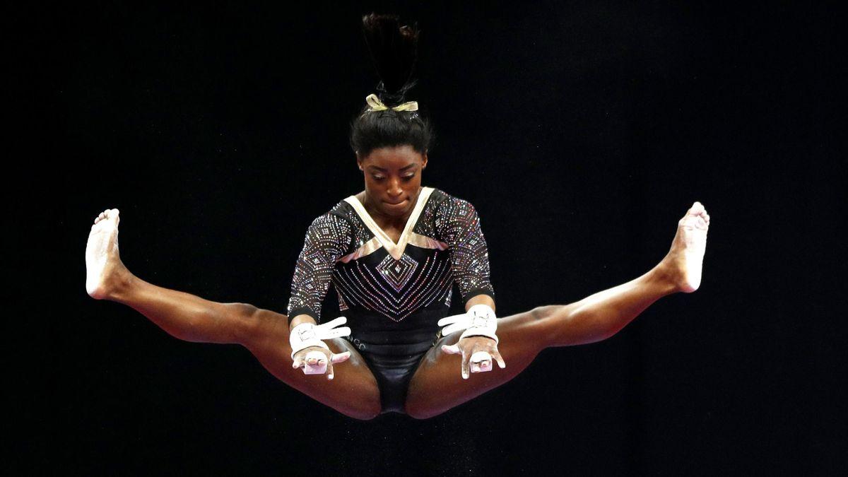 Simone Biles impegnata ai Campionati Statunitensi, Getty Images