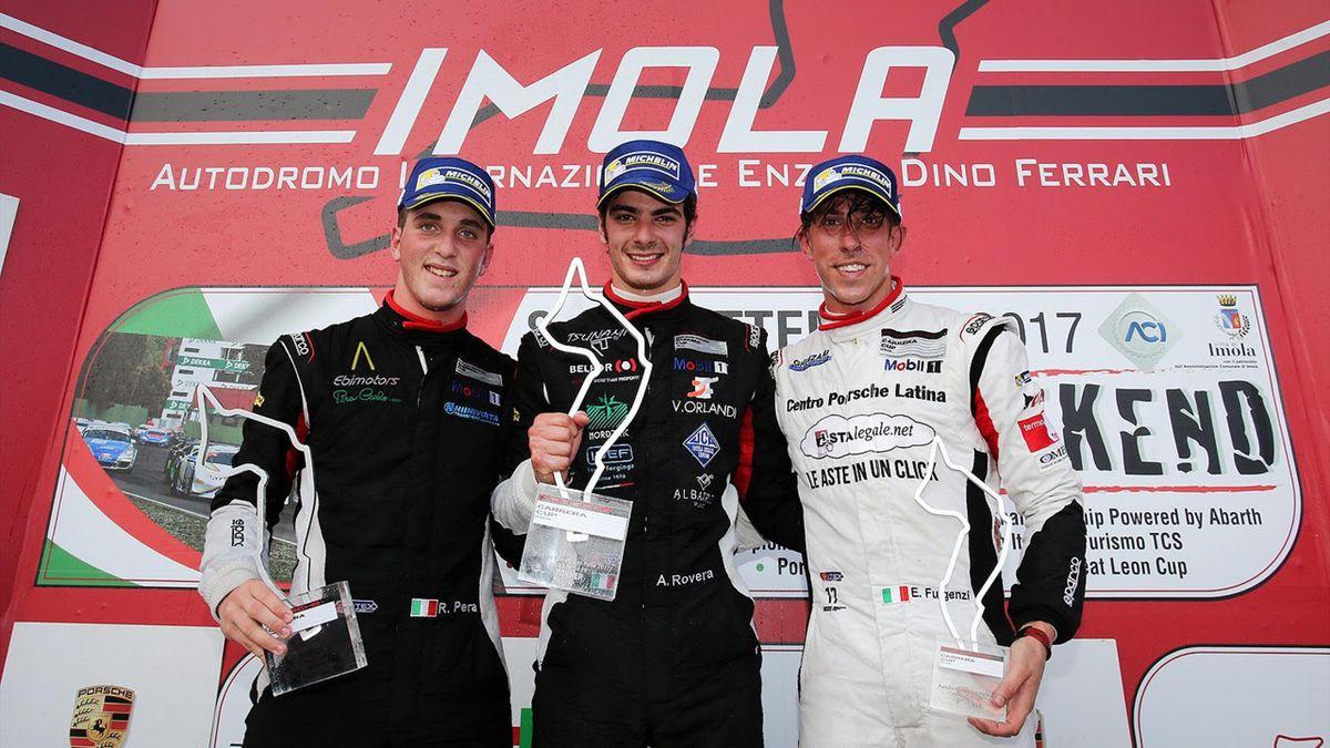 Imola, il podio di gara-1