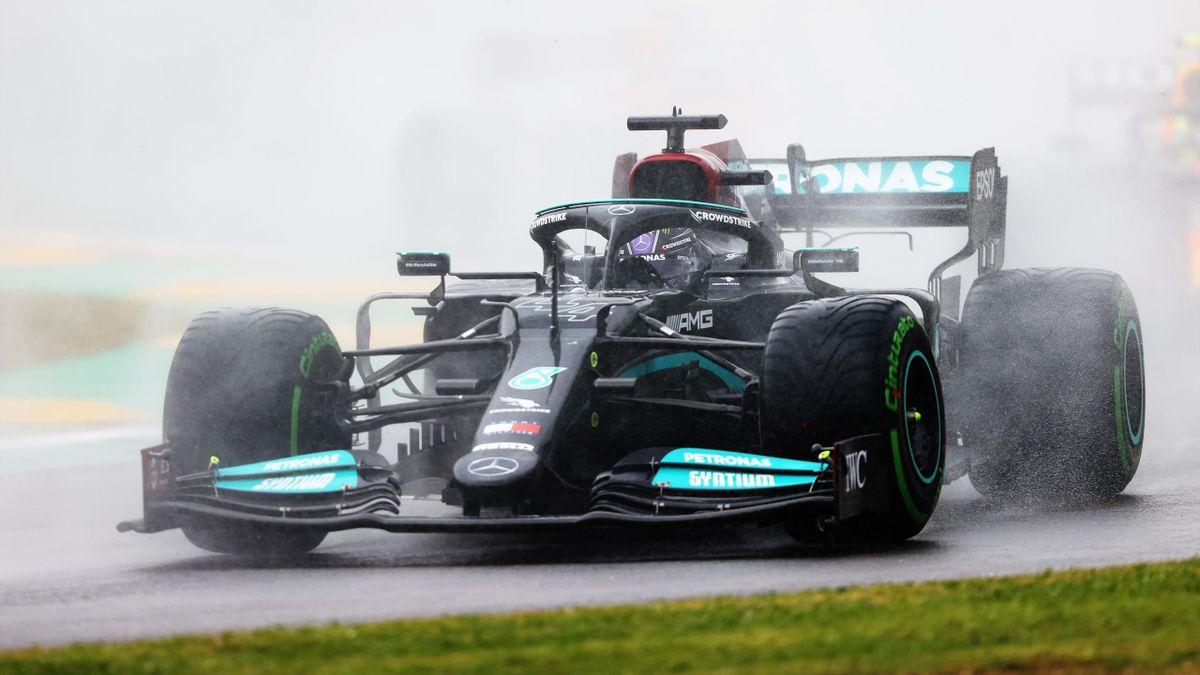 Lewis Hamilton (Mercedes) in Imola