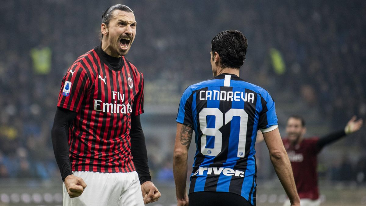 Inter-Milan, l'esultanza di Ibrahimovic
