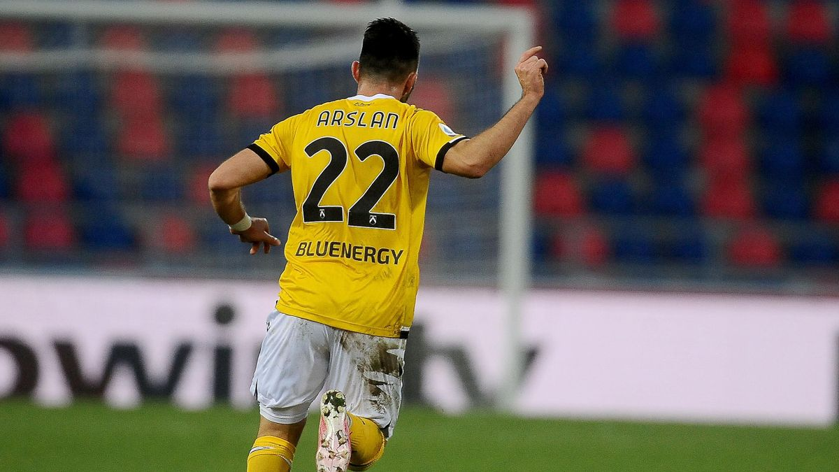 Togay Arslan, Bologna-Udinese. Serie A 2020-21, Getty Images