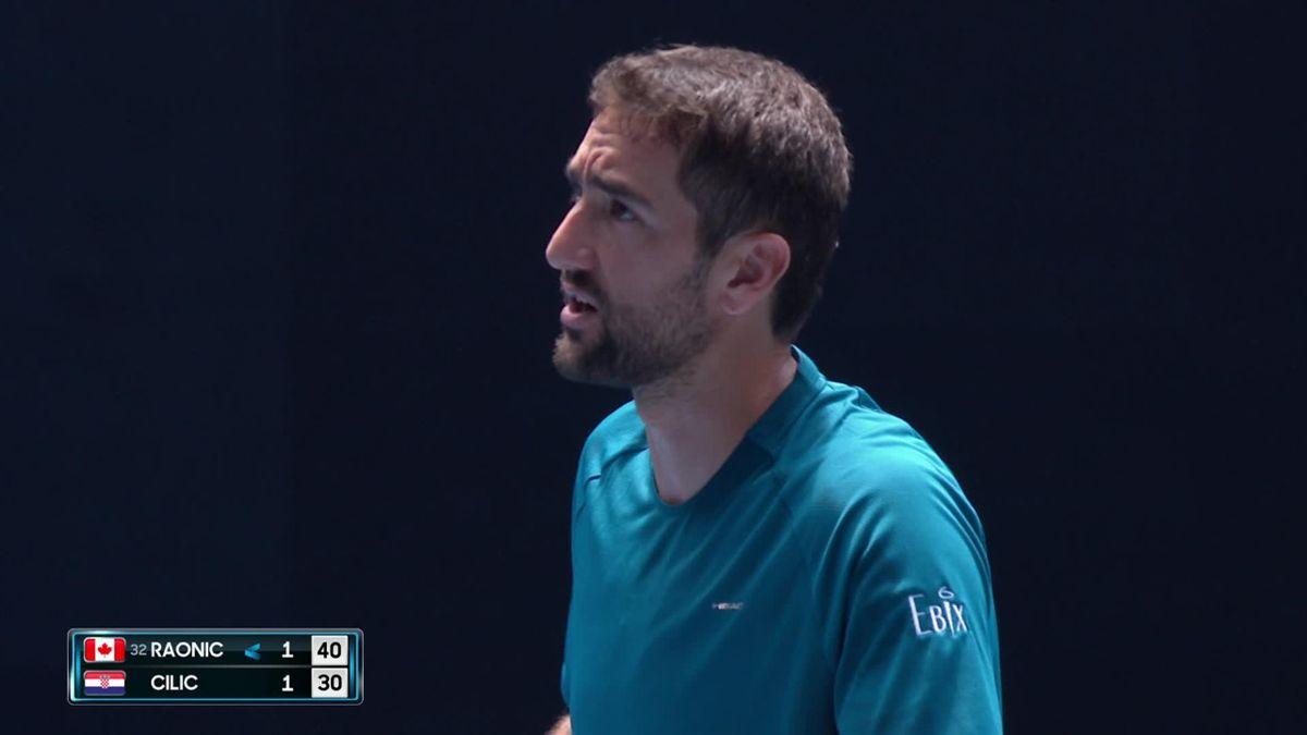 Australian Open : Cilic disagree with umpire