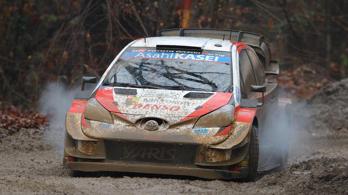 Sébastien Ogier et Julien Ingrassia (Toyota) lors du Rallye de Monza, le 6 décembre 2020