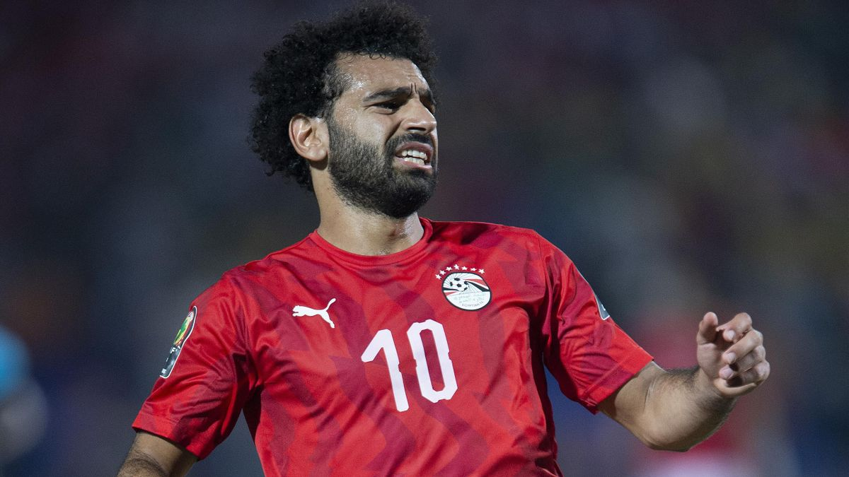 Mohamed Salah of Egypt during the 2019 Africa Cup of Nations Round of 16 match between Egypt and South Africa at Cairo International Stadium on July 6, 2019 in Cairo, Egypt. (Photo by Visionhaus)