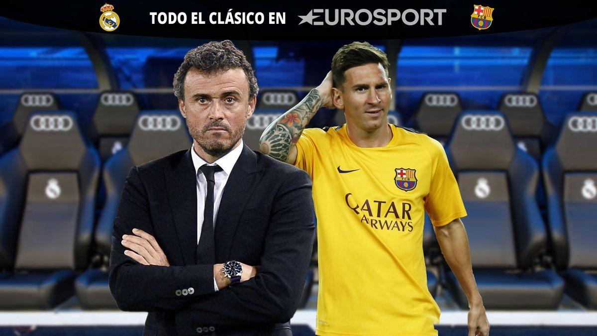 Luis Enrique y Messi, suplencia - Real Madrid vs Barcelona