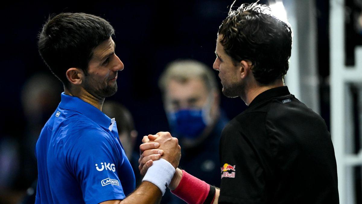 asters 2020 : Novak Djokovic à nouveau dominé par Dominic Thiem.