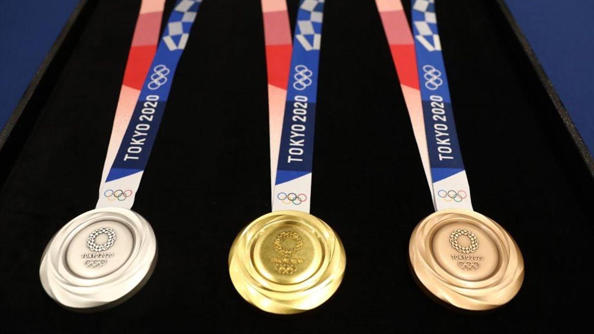 Diseño de las medallas de los Juegos Olímpicos de Tokio 2020, fabricadas con material reciclado