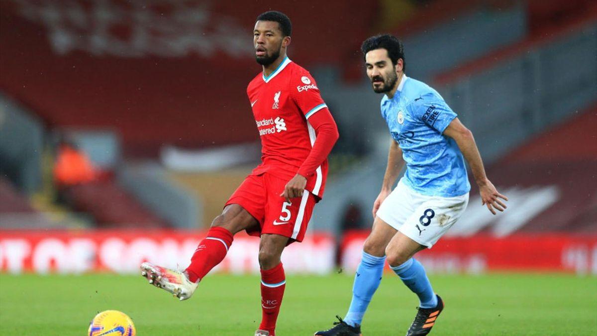 Georginio Wijnaldum, Ilkay Gundogan - Liverpool-Manchester City - Premier League 2020-21