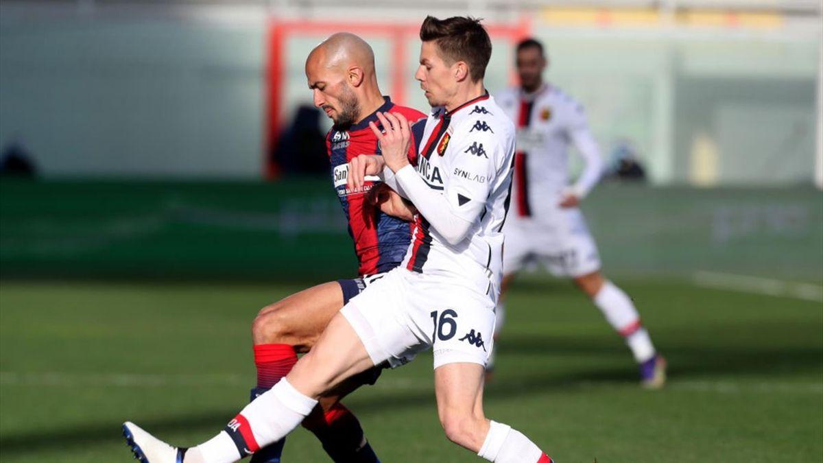 Ahmad Benali e Miha Zajc - Crotone-Genoa Serie A 2020-21