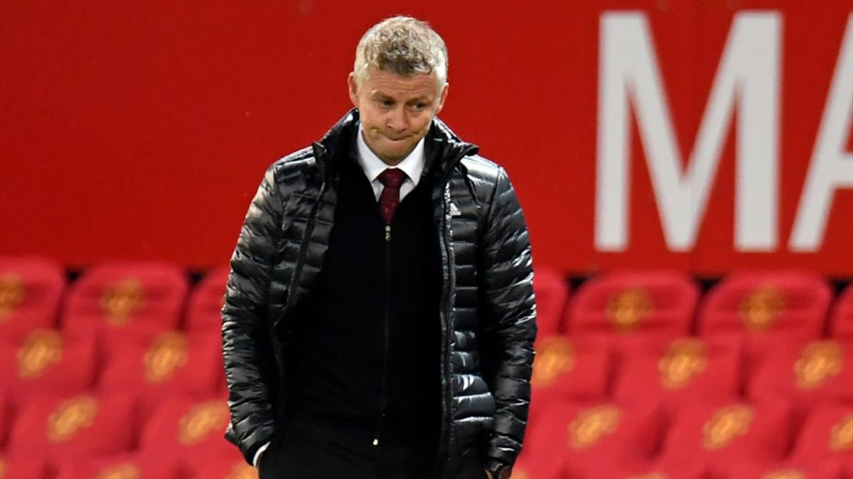 Manchester United's Norwegian manager Ole Gunnar Solskjaer reacts on the touchline after the English Premier League football match between Manchester United and Southampton at Old Trafford in Manchester, north-west England, on July 13, 2020