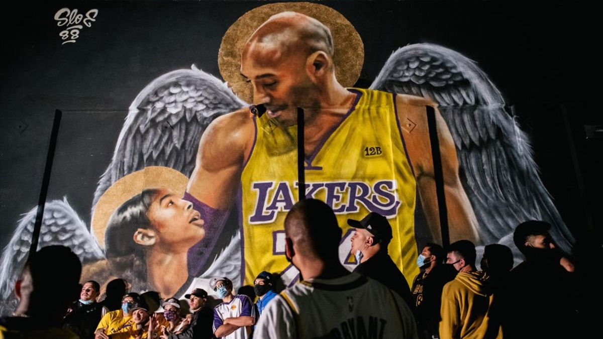 Kobe Bryant and Gianna Bryant - mural in Los Angeles (California)