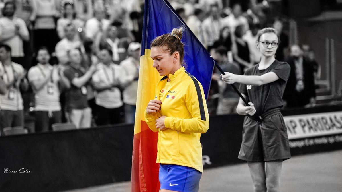 Simona Halep, la Fed Cup. Credit foto: Bianca Calea