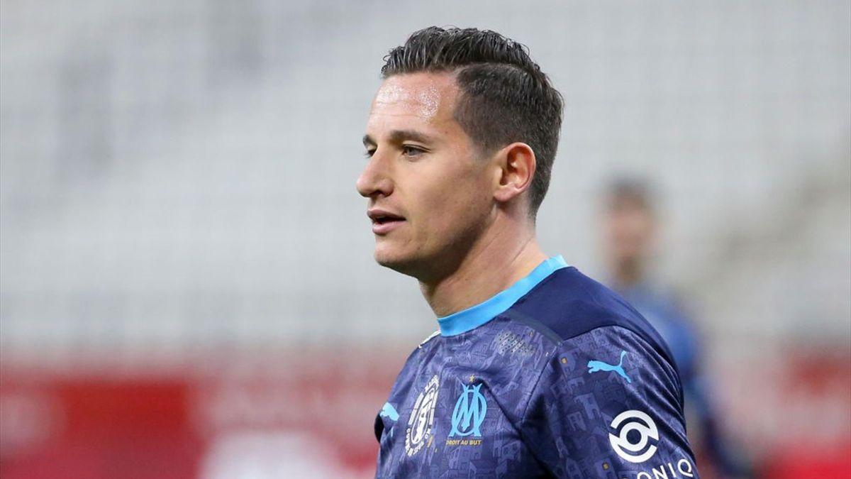 Florian Thauvin con la maglia dell'Olympique Marsiglia