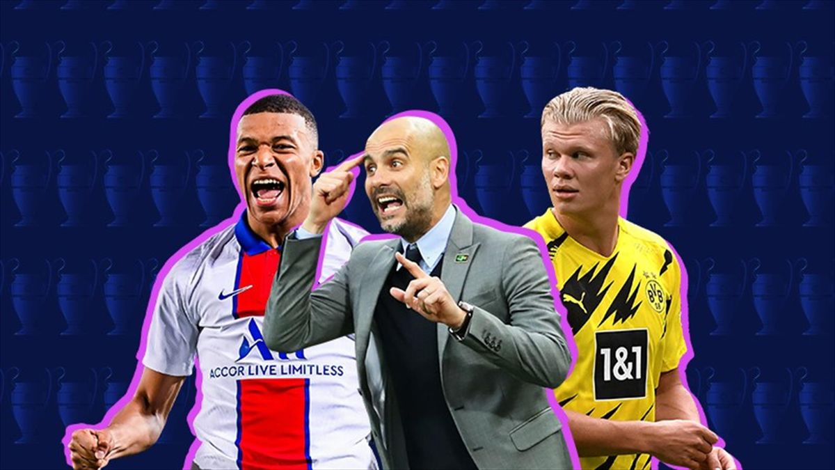 Mbappé, Guardiola e Haaland - Champions League 2021