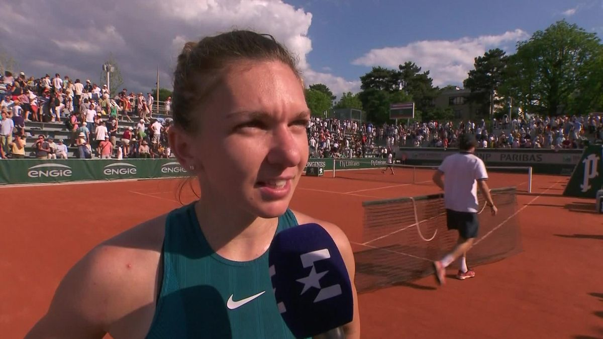 French Open : Itw Halep on court